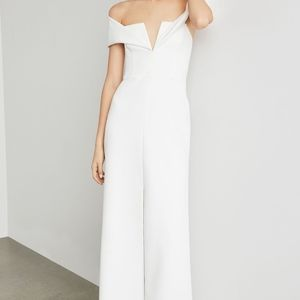 NEW WHITE AMALIE OFF THE SHOULDER GOWN DRESS
